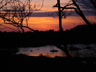 Provincetown Cape Cod vacation rental - Sunset over the ponds in front of the house