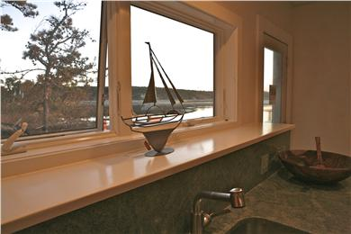 Chequessett Neck Wellfleet Cape Cod vacation rental - Sunset over the bay  from the kitchen window