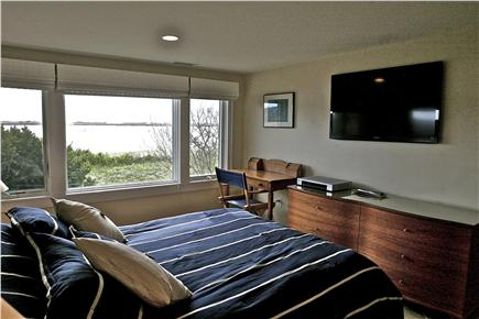 Chequessett Neck Wellfleet Cape Cod vacation rental - Master bedroom has a queen bed and flat screen TV