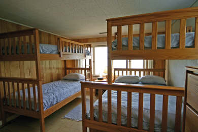Chequessett Neck Wellfleet Cape Cod vacation rental - 3rd Bedroom has 3 extra long twin beds and an extra long full