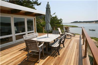 Chequessett Neck Wellfleet Cape Cod vacation rental - You pick sun or shade to go with the view