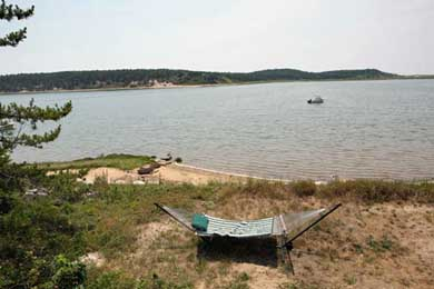 Chequessett Neck Wellfleet Cape Cod vacation rental - Relax in the hammock overlooking the Bay or have kayaks delivered