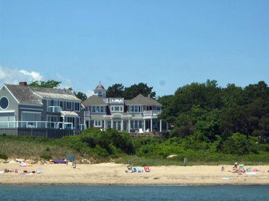 New Seabury, Mashpee New Seabury vacation rental - Glance back at your vacation home from pristine private beach