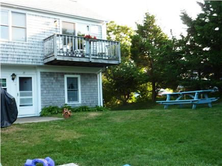 Dennis Cape Cod vacation rental - Deck overlooking yard and picnic table