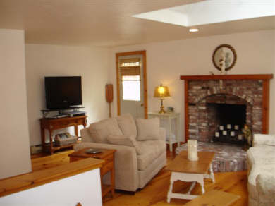 Hyannis Cape Cod vacation rental - Living Room with door to deck