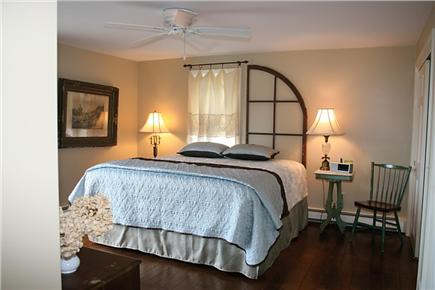 Harwichport Cape Cod vacation rental - Master Bedroom with King Bed and access to outside deck.