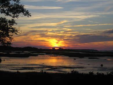 Wellfleet Cape Cod vacation rental - Sunset from Deck