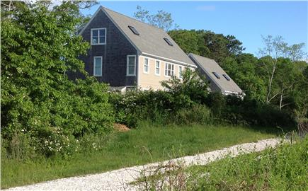 West Hyannisport Cape Cod vacation rental - South side view (house is almost 200' from road)