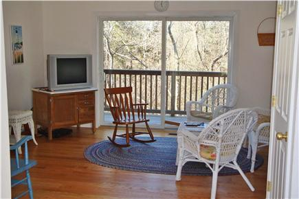 West Hyannisport Cape Cod vacation rental - View of family room. Laundry closet with is to the left.