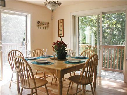 West Hyannisport Cape Cod vacation rental - Family dining area opens to two decks