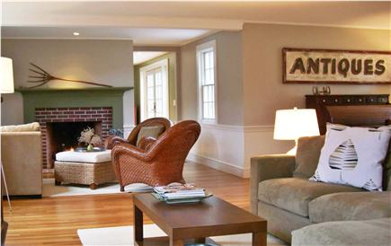 Brewster Cape Cod vacation rental - First floor entry is a huge living area.