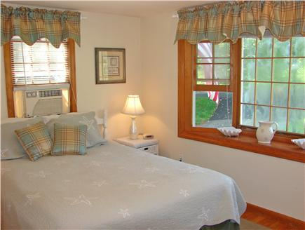 Chatham Cape Cod vacation rental - Master bedroom with queen bed, A/C unit and bay window