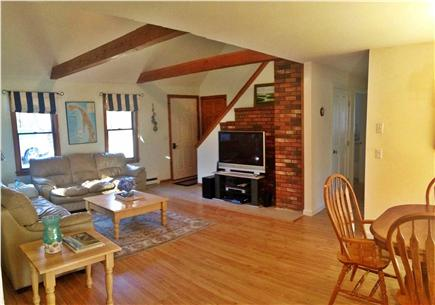 Eastham Cape Cod vacation rental - Dining/living room with large flat-screen TV