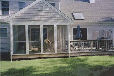 Eastham Cape Cod vacation rental - Outdoor deck with table and brand new gas grill