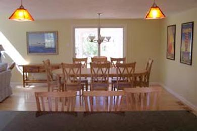 Eastham Cape Cod vacation rental - Dining room area with screen door to enclosed porch