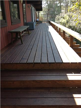 West Chatham Cape Cod vacation rental - Lots of front deck space for enjoying sunny days and cool nights!