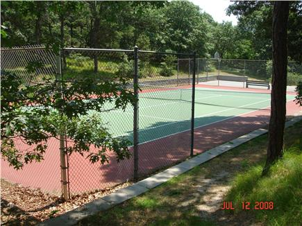 South Chatham Cape Cod vacation rental - Neighborhood tennis court...playscape & hoop also on site.