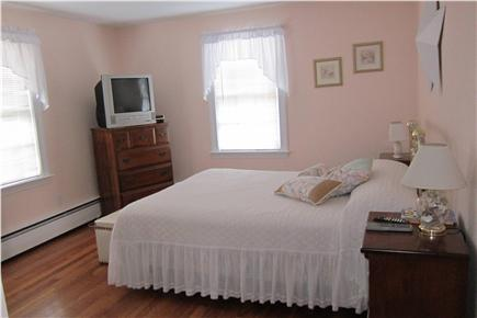 South Yarmouth Cape Cod vacation rental - First floor  bedroom with queen bed, AC unit,, cable TV, DVD