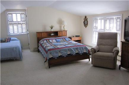 South Yarmouth Cape Cod vacation rental - 2nd floor bedroom w/2 double beds,  sofa bed, AC unit & cable TV