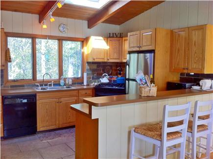 Falmouth Cape Cod vacation rental - Kitchen with skylights and breakfast bar
