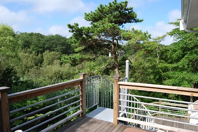 Falmouth Cape Cod vacation rental - View from the upstairs dining deck