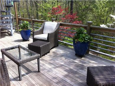 Falmouth Cape Cod vacation rental - Lower deck with comfortable furniture