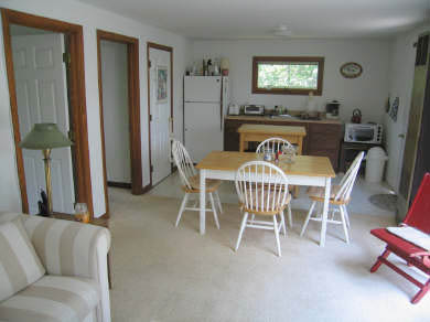 Truro Cape Cod vacation rental - Looking from Living Room toward Dining Area and Kitchen