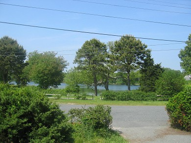 Bass River - West Dennis Cape Cod vacation rental - View from Front Door - Pond is Across the Street