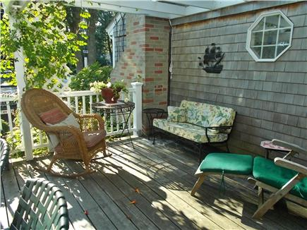 Dennis Cape Cod vacation rental - Deck with seating, table for 8, gas grill