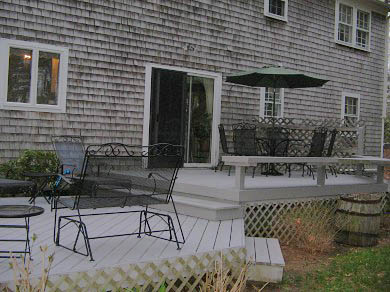 West Brewster/East Dennis Cape Cod vacation rental - Two level deck with outdoor seating and gas grill