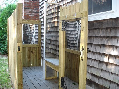West Yarmouth Cape Cod vacation rental - Large out door shower with changing area