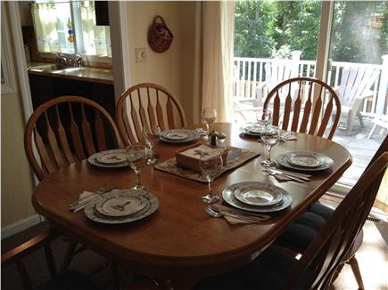 West Yarmouth Cape Cod vacation rental - Expandable dining table with sliders to large deck