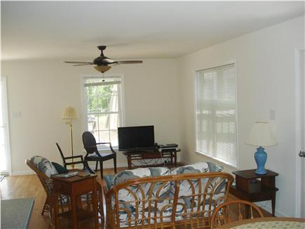 South Chatham Cape Cod vacation rental - Living area, open to dining area and kitchen
