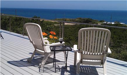 Wellfleet Cape Cod vacation rental - Wrap around deck with 180 degree ocean views. Relax and enjoy.