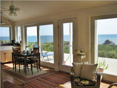Wellfleet Cape Cod vacation rental - Dining/kitchen with spectacular views of the ever changing ocean.