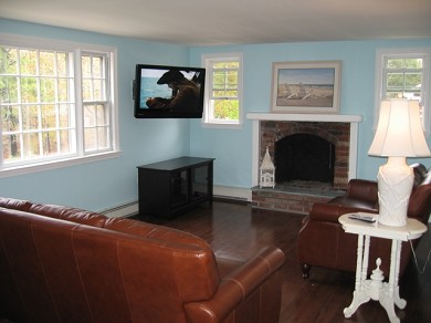 Downtown Chatham Cape Cod vacation rental - Updated family room picture with flat screen TV!