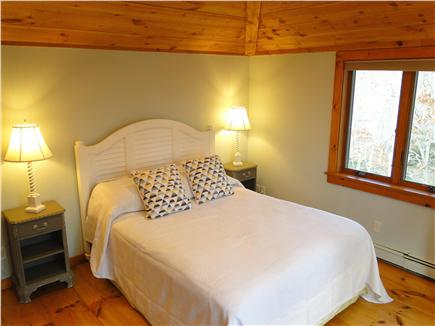 Brewster Cape Cod vacation rental - Queen bedroom off kitchen, lofted and ceiling fan