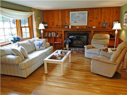 West Yarmouth Cape Cod vacation rental - Bright, nicely decorated living room, wood floors, bay window
