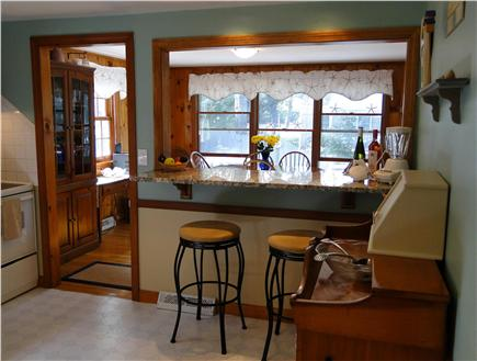 West Yarmouth Cape Cod vacation rental - Entry to Kitchen, breakfast bar faces dining area