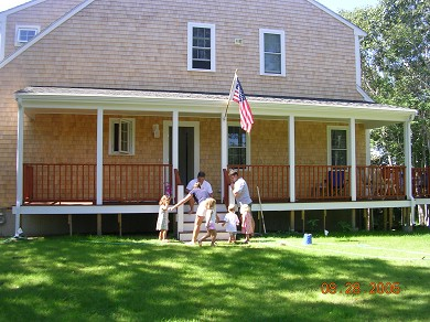 West Dennis Cape Cod vacation rental - Large porch and plenty of room to play on the lawn