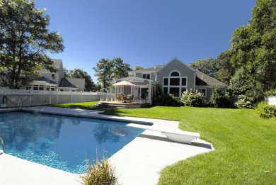 Mashpee Cape Cod vacation rental - Private Back Garden with 40' heated swimming pool