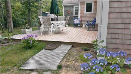 Eastham, Great Pond Area Cape Cod vacation rental - Peaceful, private back deck for a al fresco dining or gathering