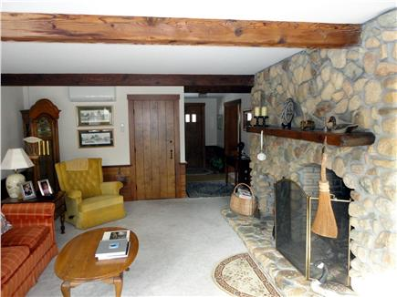 Chatham Cape Cod vacation rental - Living Room with field stone fireplace.