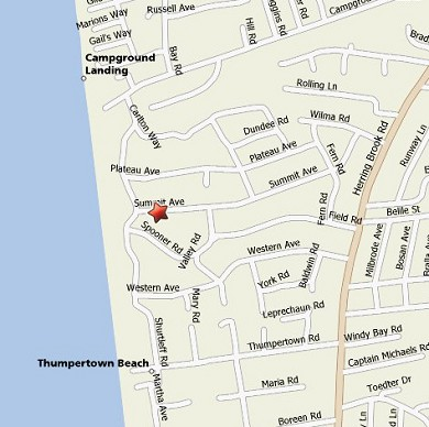 Eastham Cape Cod vacation rental - Map showing proximity to the beach