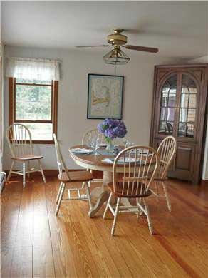 Eastham Cape Cod vacation rental - Sunny Dining area - East Facing Bay Window Views of deck and yard