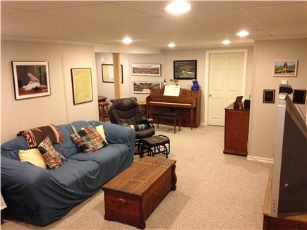Harwich Cape Cod vacation rental - Second space in basement with large TV and surround sound