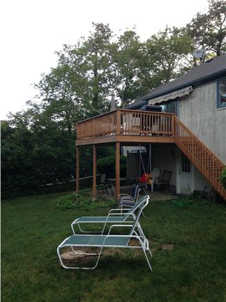 Harwich Cape Cod vacation rental - Back yard and deck with plenty of entertaining space.