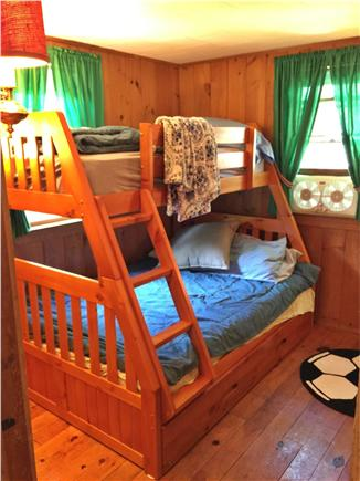 South Dennis Cape Cod vacation rental - Bunk beds with tiwn, full size, and trundle, too!