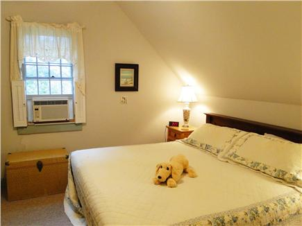 Chatham Cape Cod vacation rental - Upstairs king bedroom with air conditioner and TV