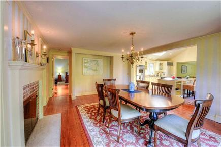 West Falmouth Cape Cod vacation rental - Dining Room looking toward Master Bedroom